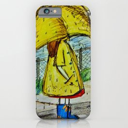 Yellow Umbrella and Sunflower Rain Boots  iPhone Case