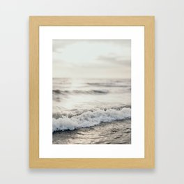 White Water Framed Art Print
