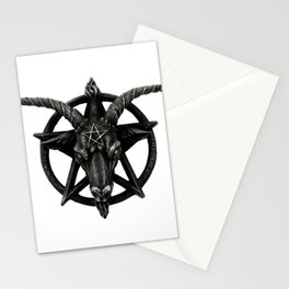 Baphomet Satanic Church Goat Head Stationery Cards