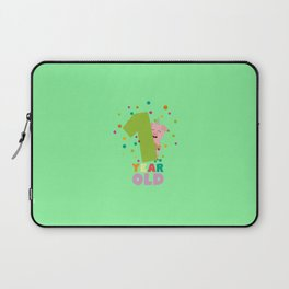 One Year first Birthday Party T-Shirt D80cw Laptop Sleeve