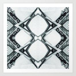 Reflected Bridges Art Print