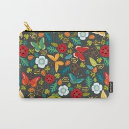 The Butterfly Garden - Charcoal Carry-All Pouch
