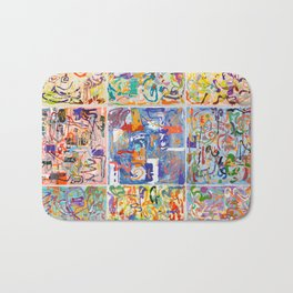 Shamanic Painting 1-9 Bath Mat