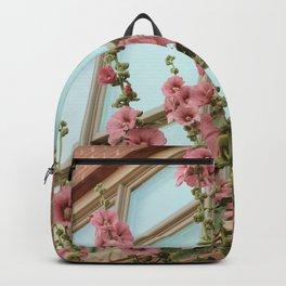 Pink Flowers on Vintage Vines Backpack