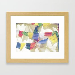 Prayer Flags Framed Art Print