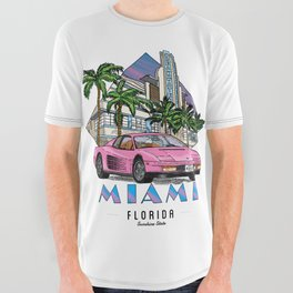 Miami, bedrock of diversity! All Over Graphic Tee