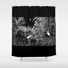 Welcome to the Jungle Shower Curtain