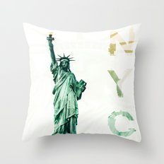 NYC - lady liberty Throw Pillow