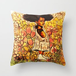 2014 Intelligent Black Child ( never let your oppressor judge you ) Throw Pillow