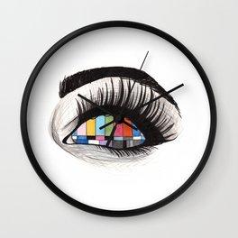 tv eye Wall Clock