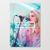 sky ferreira Canvas Prints featuring Sky Ferreira by ScarTissue