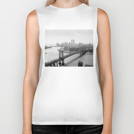 Photograph of NYC and The Williamsburg Bridge Biker Tank