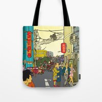 clockwork Tote Bags featuring Clockwork by Marra