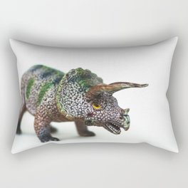 Fine Art Dinosaur Print: Triceratops Rectangular Pillow