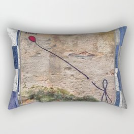 Lost - blue graphic Rectangular Pillow