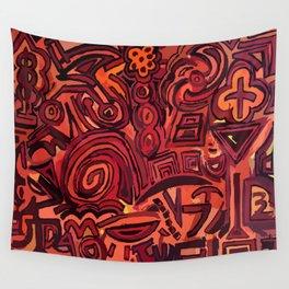 Red simbols Wall Tapestry