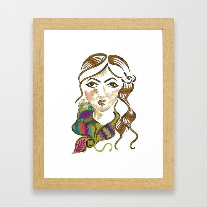 'Chloe' Illustration Framed Art Print