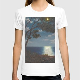 Classical Masterpiece 'Moonlight on the Water' by Ivan Fedorovich Choultsé T-shirt