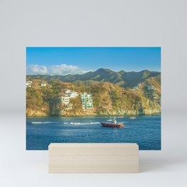 Taganga Bay Landscape, Colombia Mini Art Print