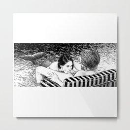 asc 793 - Le rivage de velour (Dive in a velvet slide) Metal Print