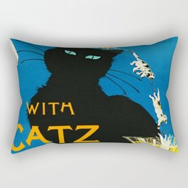 Mix Your Drinks with Catz (Cats) Bitters Aperitif Liquor Vintage Advertising Poster Rectangular Pillow