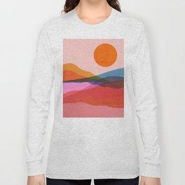 Abstraction_OCEAN_Beach_Minimalism_001 Long Sleeve T-shirt