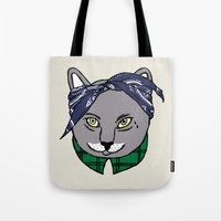 archer Tote Bags featuring Archer by YEAH RAD STOKED