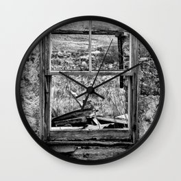 Window with a view Wall Clock