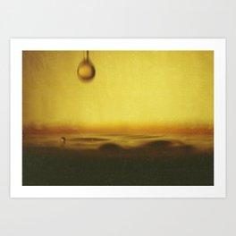 A drop of coffee Art Print