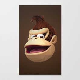 Triangles Video Games Heroes - Donkey Kong Canvas Print