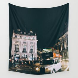 Piccadilly Cirkus by Night Wall Tapestry