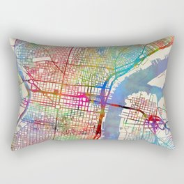 Philadelphia Pennsylvania City Street Map Rectangular Pillow