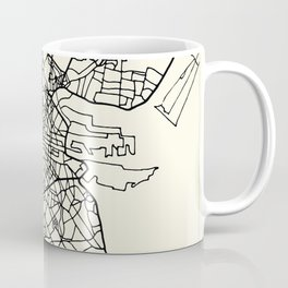 DUBLIN Ireland City Street Map Coffee Mug