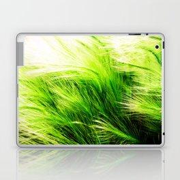 Green Swaying Grass in Summer Breeze Laptop & iPad Skin
