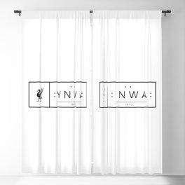 Liverpool minimal logo Black Blackout Curtain