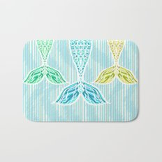 Mermaids and Stripes Bath Mat