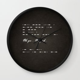 Give me morse in dark Wall Clock