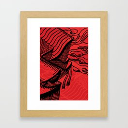 Carve Framed Art Print