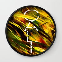 camo Wall Clocks featuring CAMO CALI by Chrisb Marquez