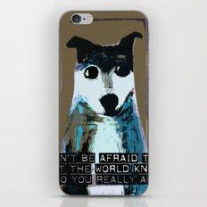 Blue Dog iPhone & iPod Skin