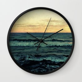 Alamillo Beach Sunset Wall Clock