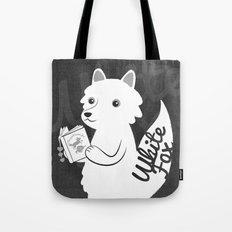 White Fox Tote Bag