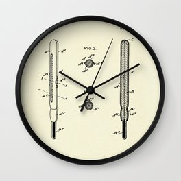 Clinical Thermometer Shield-1898 Wall Clock
