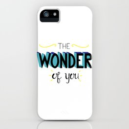 The Wonder of You - Blue and Yellow iPhone Case