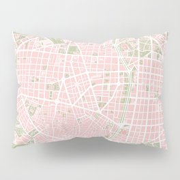 Madrid map vintage Pillow Sham