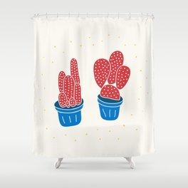 Happy Cacti Shower Curtain