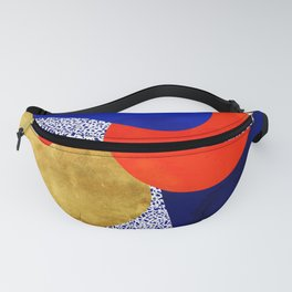 Terrazzo galaxy blue night yellow gold orange Fanny Pack