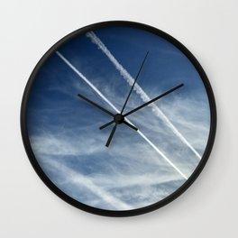 Exquisite Sky-Piercing Jet Trails Wall Clock