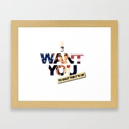 want you Framed Art Print