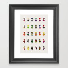 Really Super Mario vs Really Super Wario Framed Art Print